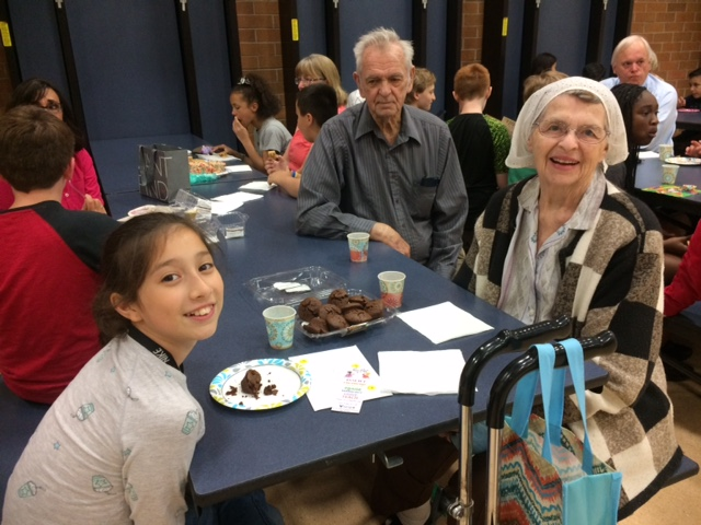 Dorothy Ware with her Hearthwood student in 2018